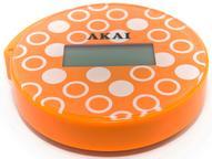 "Весы напольные ""Akai"", электронные, цвет: оранжевый, до 150 кг"