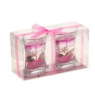 """Набор декоративных свечей Sima-land """"Морское дно"""", цвет: розовый, прозрачный, 2 шт"""