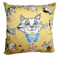 "Подушка декоративная Gift'n'Home ""Cats'n'Mouse"", 35 см х 35 см"