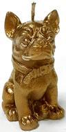 """Свеча декоративная Sima-land """"Собака"""", цвет: золотой, высота 9,5 см"""