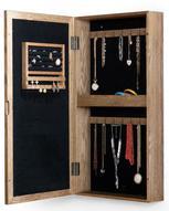 Шкатулка для ювелирных украшений, настенная, цвет: светло-коричневый