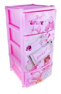 """Комод Альтернатива """"Girl"""", цвет: розовый, 38 х 48 х 98 см"""