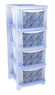 """Комод Plastic Centre """"Deco"""", цвет: голубой, 33,5 х 41 х 86,7 см. 767439"""