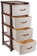 "Комод Idea ""Классик"", цвет: бежевый мрамор, коричневый, 48 х 37,5 х 92 см"