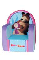 СмолТойс Кресло Маша и Медведь цвет голубой