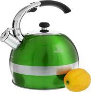 "Чайник ""Bohmann"", со свистком, цвет: зеленый, 2,7 л. BH-9995"
