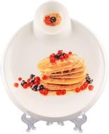 """Тарелка для блинов Elan Gallery """"Блины с ягодами"""", с соусницей, диаметр: 20 см"""
