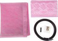 Сетка антимоскитная, на магнитной ленте, цвет: розовый, 80 х 210 см