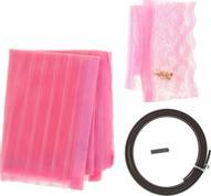 """Сетка антимоскитная """"Полоска"""", на магнитной ленте, цвет: розовый, 80 х 210 см"""