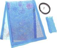 """Сетка антимоскитная """"Цветы"""", на магнитной ленте, цвет: голубой, 80 х 210 см"""