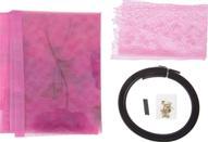 """Сетка антимоскитная """"Цветы"""", на магнитной ленте, цвет: розовый, 80 х 210 см"""