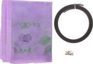 """Сетка антимоскитная """"Цветы"""", на магнитной ленте, цвет: сиреневый, 80 х 210 см"""