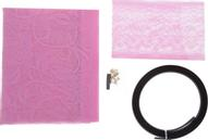 """Сетка антимоскитная """"Цветочный узор"""", на магнитной ленте, цвет: розовый, 80 х 210 см"""