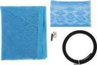 """Сетка антимоскитная """"Цветочный узор"""", на магнитной ленте, цвет: голубой, 80 х 210 см"""