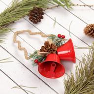 """Украшение новогоднее подвесное Sima-land """"Колокольчики с ёлочкой"""", 16,5 см х 10 см х 5,5 см. 2313491"""