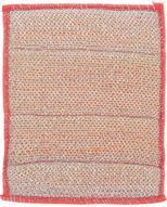 """Салфетка для стеклокерамики """"Хозяюшка Мила"""", цвет: серебристый, розовый, 21 х 17 см"""