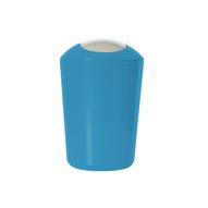 """Ведро для мусора """"Axentia"""", с крышкой, цвет: синий, хром, 5 л"""
