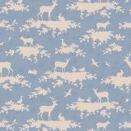 "Ткань Tilda ""Forest"", цвет: голубой, белый, 1 х 1,1 м. 210484010"