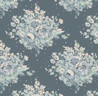 """Ткань Tilda """"Summer Floral"""", цвет: бирюзовый, голубой, 1 х 1,1 м. 210481879"""