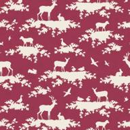 """Ткань Tilda """"Forest"""", цвет: бордовый, белый, 1 х 1,1 м. 210484008"""