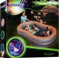 Bestway Бассейн надувной, с флуоресцентным дном. 54136