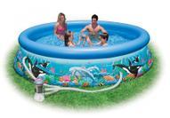 """Надувной бассейн Intex """"Easy Set. Риф Океана"""", с фильтр-насосом 220 В, 366 х 76 см. с54906"""