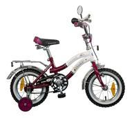 """Велосипед детский Novatrack """"Zebra"""", цвет: бордовый, белый, 12"""""""