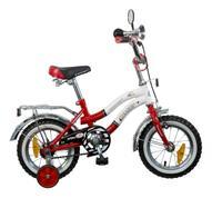 """Велосипед детский Novatrack """"Zebra"""", цвет: красный, белый, 12"""""""