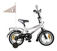 """Велосипед детский Novatrack """"Taxi"""", цвет: белый, черный, 12"""""""