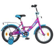 """Велосипед детский Novatrack """"Urban"""", цвет: фуксия, голубой, 14"""""""