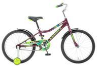 """Велосипед детский Novatrack """"Cron"""", цвет: бордовый, зеленый, синий, 20"""""""