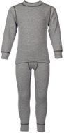 Комплект термобелья для мальчика Oldos Active Warm: футболка с длинным рукавом, кальсоны, цвет: светло-серый, серый, антрацит. 002МН. Размер 152, 12 лет