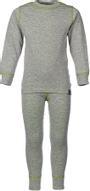 Комплект термобелья для девочки Oldos Active Warm: футболка с длинным рукавом, леггинсы, цвет: светло-серый, лайм. 002ДН. Размер 158, 13 лет