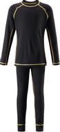Комплект термобелья детский Reima Cepheus: лонгслив, брюки, цвет: черный. 5362179990. Размер 100