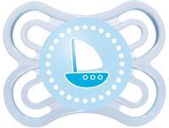 MAM Пустышка Perfect Кораблик от 0 месяцев цвет голубой