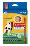 """Цветные карандаши Lyra """"Groove Slim"""", с точилкой, 36 цветов"""