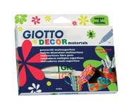 """Фломастеры Giotto """"Decor Materials"""", для декорирования, 6 цветов"""