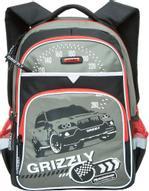 Grizzly Рюкзак детский Racing цвет черный серый