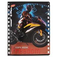 "Тетрадь Freedom ""Мотоцикл"", 80 листов, формат А5, цвет: желтый"