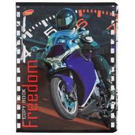 """Тетрадь Freedom """"Мотоцикл"""", 80 листов, формат А5, цвет: фиолетовый"""