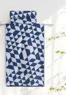 """Полотенце банное Aquarelle """"Орион 3"""", цвет: белый, темно-синий, 70 х 140 см. 713037"""
