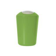 """Ведро для мусора """"Axentia"""", с крышкой, цвет: зеленый, хром, 5 л"""