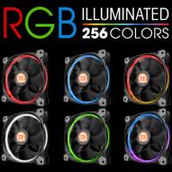 Thermaltake Riing 14 LED 256 Color вентилятор компьютерный, 3 шт