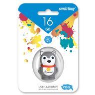 SmartBuy Wild Series Dog 16GB, Grey USB-накопитель