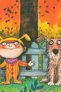 """Обложка для паспорта Mitya Veselkov """"Мальчик и пес"""", цвет: оранжевый, зеленый. OZAM348"""