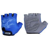 """Перчатки велосипедные детские """"STG"""" летние, цвет: синий. Размер XS. Х66454"""