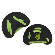 """Лопатки гребные MadWave """"Finger Paddles"""" для плавания, цвет: черный, зеленый"""