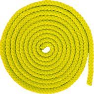 """Скакалка гимнастическая """"Larsen"""", цвет: желтый, длина 3 м"""