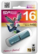 Silicon Power Marvel M50 16GB, Blue USB-накопитель