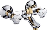 """Смеситель для ванны """"РМС"""", с коротким изливом, цвет: хром, золотистый. SL61-142E"""
